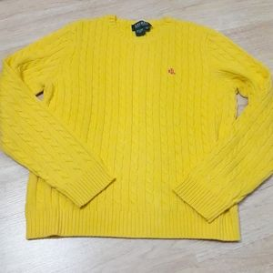 Ralph Lauren Cable Knit Yellow Sweater
